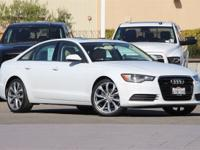 Clean CARFAX. White 2013 Audi A6 2.0T Premium Plus