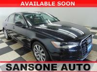Clean CARFAX. Black 2013 Audi A6 2.0T Premium Plus