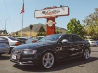 Options:  2013 Audi S4 Premium Plus|Clean Carfax. Black