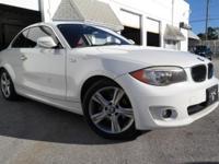 Options:  2013 Bmw 1 Series 128I Alpine White/ V6 3.0L
