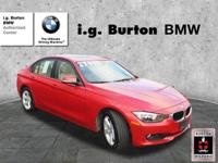 EPA 33 MPG Hwy/22 MPG City! BMW Certified, CARFAX