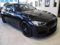 GORGEOUS BLACK BMW WITH BLACK RIMS AND RED INTERIOR!! A