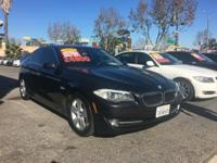 This DARK GRAY 528I BMW IS A ONE OWNER CLEAN CARFAX