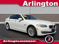 Options:  2013 Bmw 5 Series 535I|White|Clean Carfax.