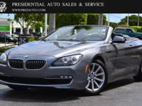 This 2013 BMW 6 Series 2dr 640i features a 3.0L