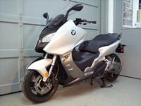2013 BMW C600 Sport motorscooter. Literally fresh