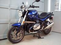 2013 BMW R1200R average metallic blue. This bike is