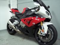 2013 BMW S1000RR, red and white with only 11245 miles.
