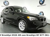 Clean CARFAX. Jet Black 2013 BMW X1 xDrive28i AWD