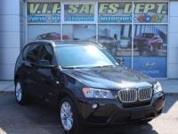 Jet Black 2013 BMW X3 xDrive28i AWD 8-Speed Automatic