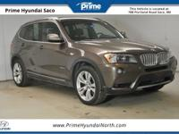 CARFAX One-Owner! 2013 BMW X3 xDrive35i in Sparkling