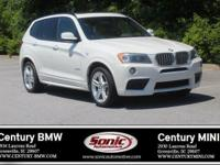 1 Owner, Clean Carfax! This 2013 BMW X3 xDrive35i is
