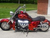 This 2013 Boss Hoss Motorcycle is loaded with options
