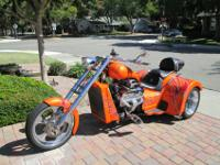 2013 V8 Chopper trikeThis is a great looking trike, it