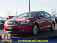 Clean CARFAX. Red 2013 Buick LaCrosse Leather Group FWD
