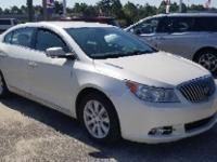 White Diamond Tricoat 2013 Buick LaCrosse Leather Group