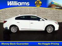 Options:  2013 Buick Lacrosse Leather Group|White|Touch