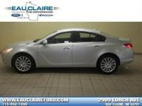2013 Buick Regal Premium 1 Silver and Leather Seats.
