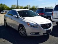 Certified. White 2013 Buick Regal Turbo Premium 1 Turbo