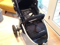 Jet black 2013 Bumbleride Indie stroller for sale. This