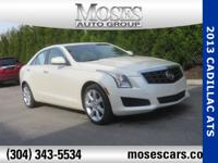 Clean CARFAX. White Diamond Tricoat 2013 Cadillac ATS