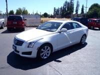 CARFAX One-Owner. 2013 Cadillac ATS 3.6L Luxury White