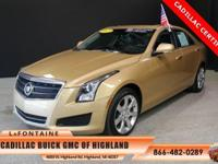 2013 Cadillac ATS 3.6L Luxury in Summer Gold Metallic,