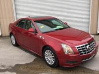 Clean CARFAX. Crystal Red Tint 2013 Cadillac CTS Luxury