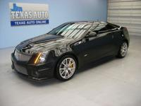 CTS V BLACK DIAMOND - 6 SPEED MANUAL - SUPERCHARGED -
