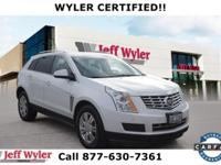 Clean CARFAX. White 2013 Cadillac SRX Luxury AWD