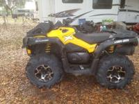 Selling my new 2013 Can Am 650 XMR due to job change.