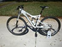 Like new condition 2013 beautiful white Cannondale