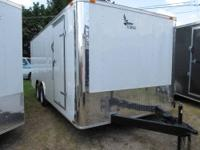 2013 NEW WHITE 8 1/2' x 20' plus Tandem Axle Enclosed