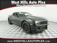 Low miles for a 2013! This 2013 Chevrolet Camaro LS,