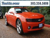 WOW!!! Check out this. 2013 Chevrolet Camaro 2LT Orange