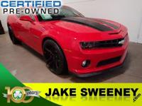 Meet our GM Certified 2013 Chevrolet Camaro Coupe. This