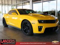Clean CARFAX. Rally Yellow 2013 Chevrolet Camaro ZL1