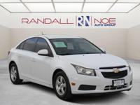 White 2013 Chevrolet Cruze 1LT FWD 6-Speed Automatic