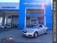 Options:  2013 Chevrolet Cruze 1Lt|Silver|1Lt Driver
