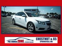 2013 Chevrolet Cruze 2LT in Summit White with Jet Black
