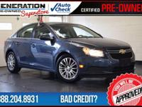 Cruze ECO, 6-Speed Manual, Blue Topaz Metallic, and