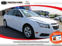 2013 CHEVROLET CRUZE LS 1SB in WHITE has just 12,765