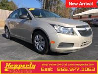 Clean CARFAX. This 2013 Chevrolet Cruze LS in Champagne