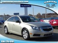 35/22 Highway/City MPG  2013 Chevrolet Cruze LS ECOTEC