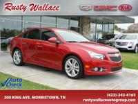 Red 2013 Chevrolet Cruze LTZ FWD 6-Speed Automatic