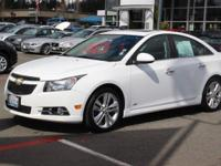New Price! Summit White 2013 Chevrolet Cruze LTZ RS FWD