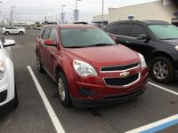 CARFAX One-Owner. Red 2013 Chevrolet Equinox LT 1LT FWD