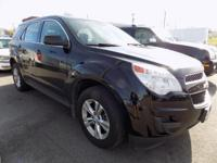 CARFAX One-Owner. Black 2013 Chevrolet Equinox LS AWD
