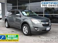 New Price! Clean CARFAX. Certified. Gray 2013 Chevrolet