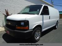 Clean CARFAX. White 2013 Chevrolet Express 1500 Work